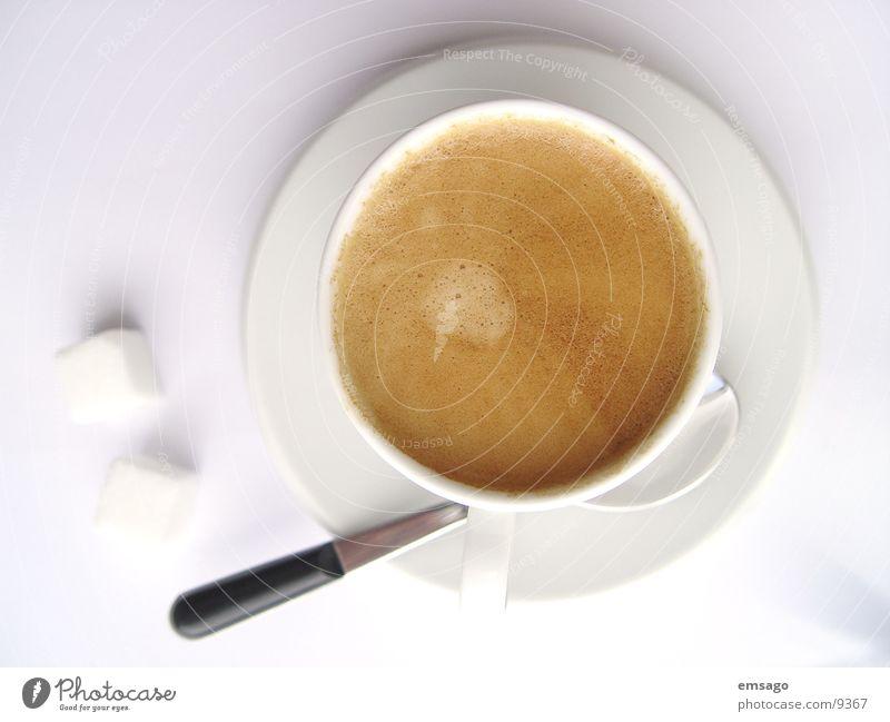 der kleine italiener Tasse Zucker Löffel Nahaufnahme Dorf esspresso
