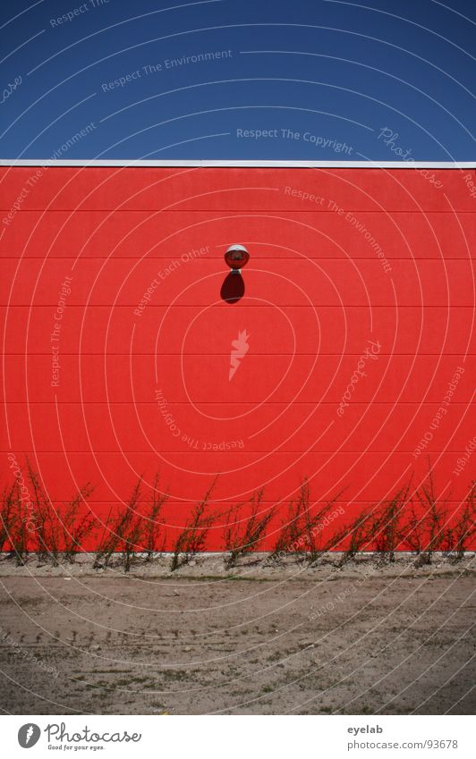 250 :-D (91000) rot Wand Lampe Setzling grün Tag knallig typisch Sicherheit Haus Beton Gebäude Gewerbe geschlossen Licht abstrakt Ecke Stahl Edelstahl Pflanze