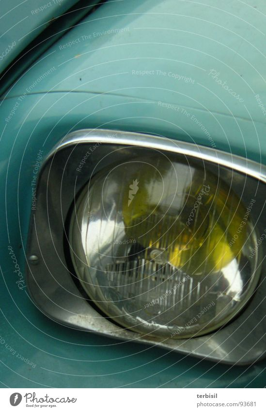 Blauer Blick Verkehr Frankreich Ente Scheinwerfer Oldtimer charmant