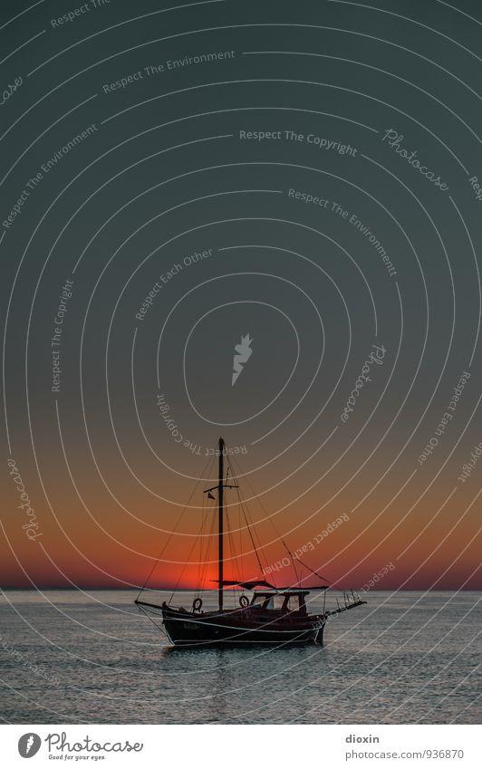 geschenkter Tag Himmel Natur Ferien & Urlaub & Reisen Wasser Sommer Sonne Erholung Meer Landschaft ruhig Ferne Umwelt Wärme Freiheit Wasserfahrzeug Tourismus