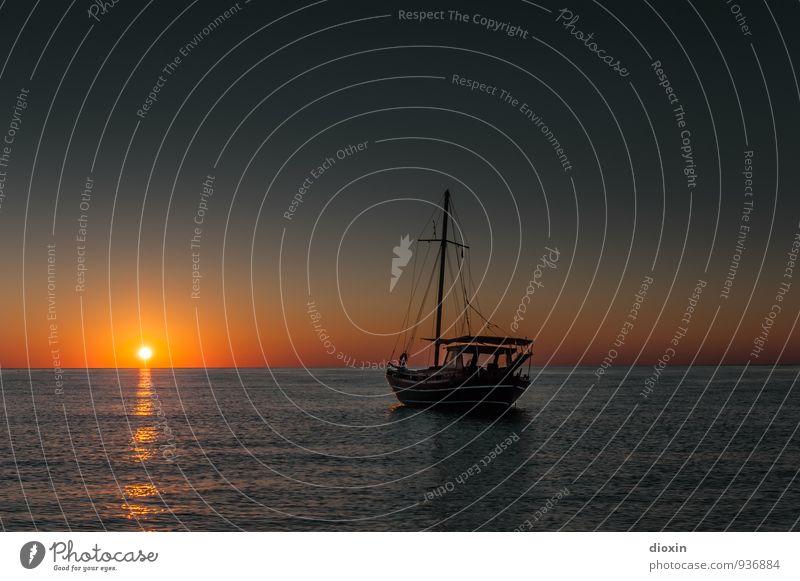 Fernweh ruhig Meditation Ferien & Urlaub & Reisen Tourismus Abenteuer Ferne Freiheit Sommer Sommerurlaub Sonne Meer Wellen Umwelt Natur Wasser Himmel