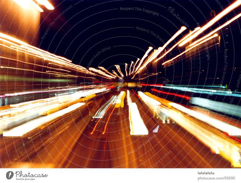 midnightflash Bewegung Perspektive Aktion Straßenbahn Lichtstreifen