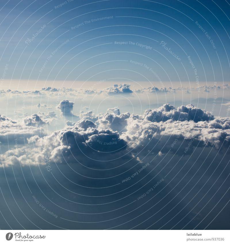 über den wolken... Zufriedenheit ruhig Ferien & Urlaub & Reisen Ferne Freiheit Sonne Pilot Luft Himmel nur Himmel Wolken Sonnenlicht Sommer Schönes Wetter