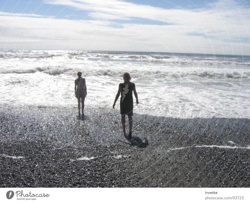 Gold Beach Himmel Meer Sommer Strand Sand Wind USA Gezeiten