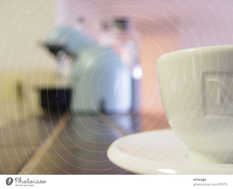 N-espresso Tasse Espresso Küche Unschärfe Nahaufnahme perspective kaffe maschine