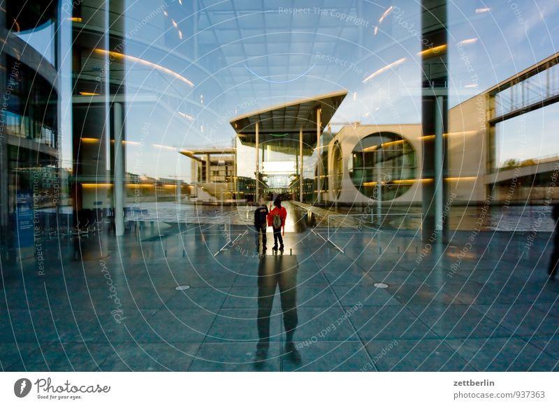 Regierungsviertel Berlin Hauptstadt Hauptstädter Regierungssitz Regierungspalast Deutscher Bundestag Architektur Glas Beton modern Reflexion & Spiegelung