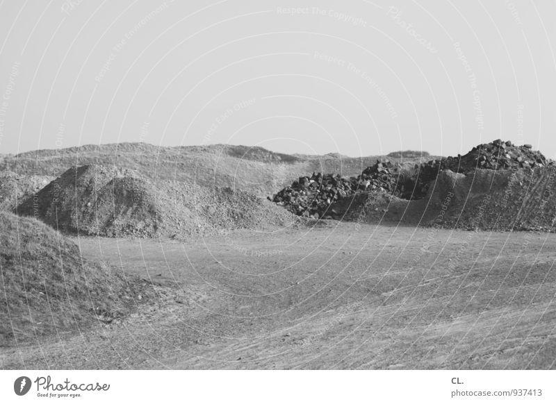 sand Natur Landschaft ruhig Ferne Umwelt Sand Erde Hügel Wolkenloser Himmel