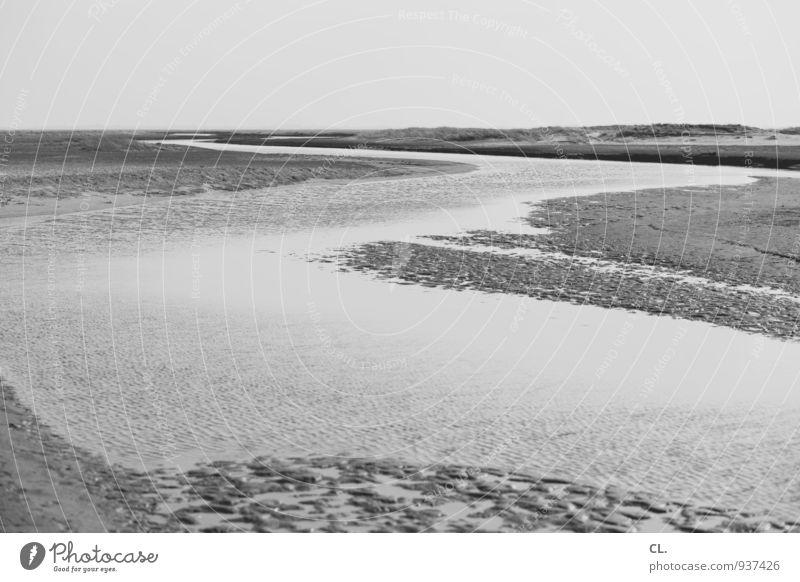 wasser Ferien & Urlaub & Reisen Tourismus Ausflug Ferne Freiheit Strand Umwelt Natur Landschaft Urelemente Sand Wasser Küste Nordsee Insel Fluss ruhig
