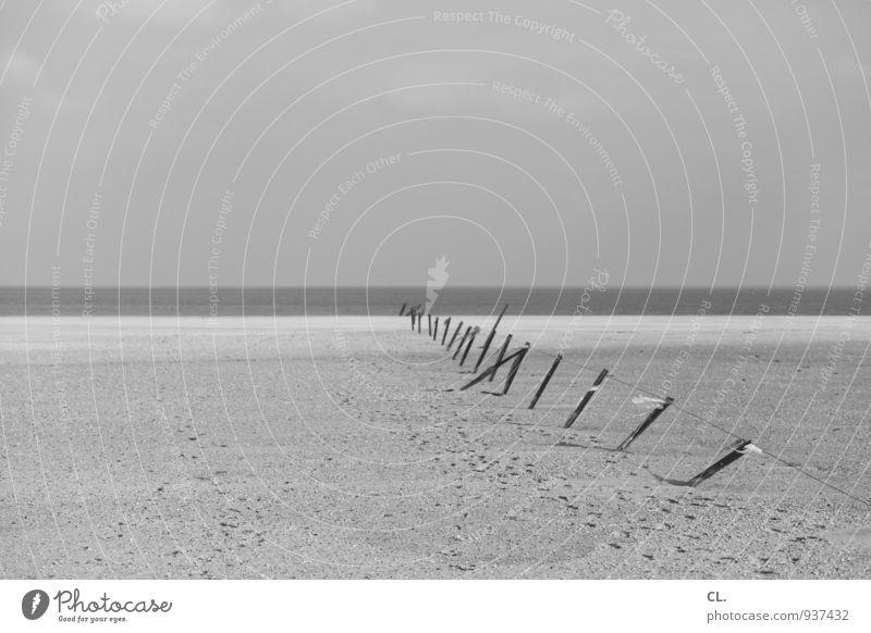 strand Ferien & Urlaub & Reisen Tourismus Ausflug Ferne Freiheit Strand Meer Insel Umwelt Natur Landschaft Urelemente Sand Wasser Wolkenloser Himmel