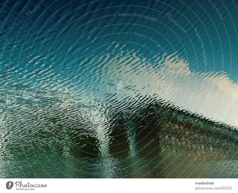 KLIMAWANDEL Wasser Himmel Meer blau Haus Wolken Gebäude Wellen Angst nass Hochhaus Fluss Klima Surrealismus Gezeiten