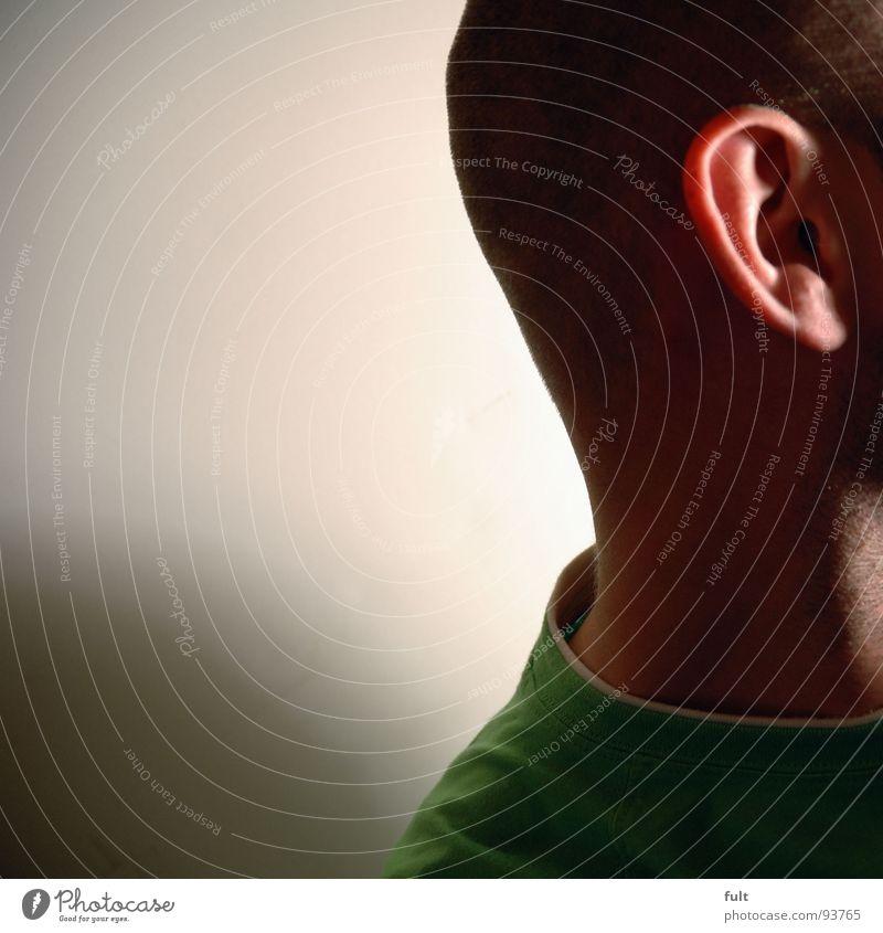 ohr Mann T-Shirt Glatze Ohr Kopf Mensch Schatten Haut