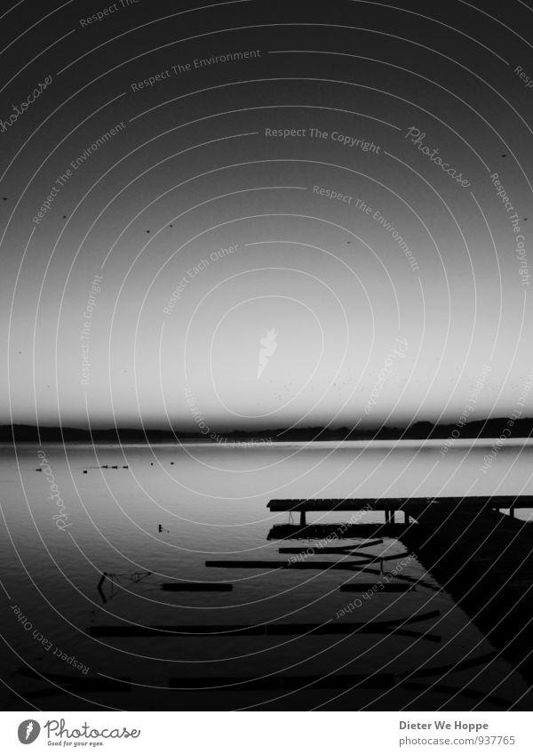 At the dock of the bay Himmel Natur Ferien & Urlaub & Reisen schön Wasser Erholung Landschaft ruhig Herbst Küste Liebe Glück Schwimmen & Baden See Horizont träumen