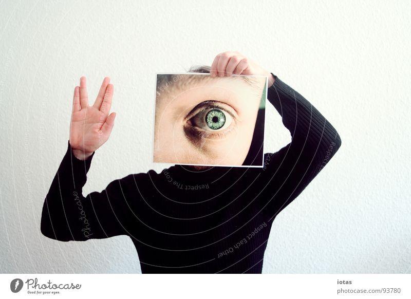 foto: erstkontakt Gesicht Auge sprechen Kopf Fotografie Suche planen außergewöhnlich Perspektive beobachten Bildung Zeichen Medien Meinung Begrüßung gestikulieren