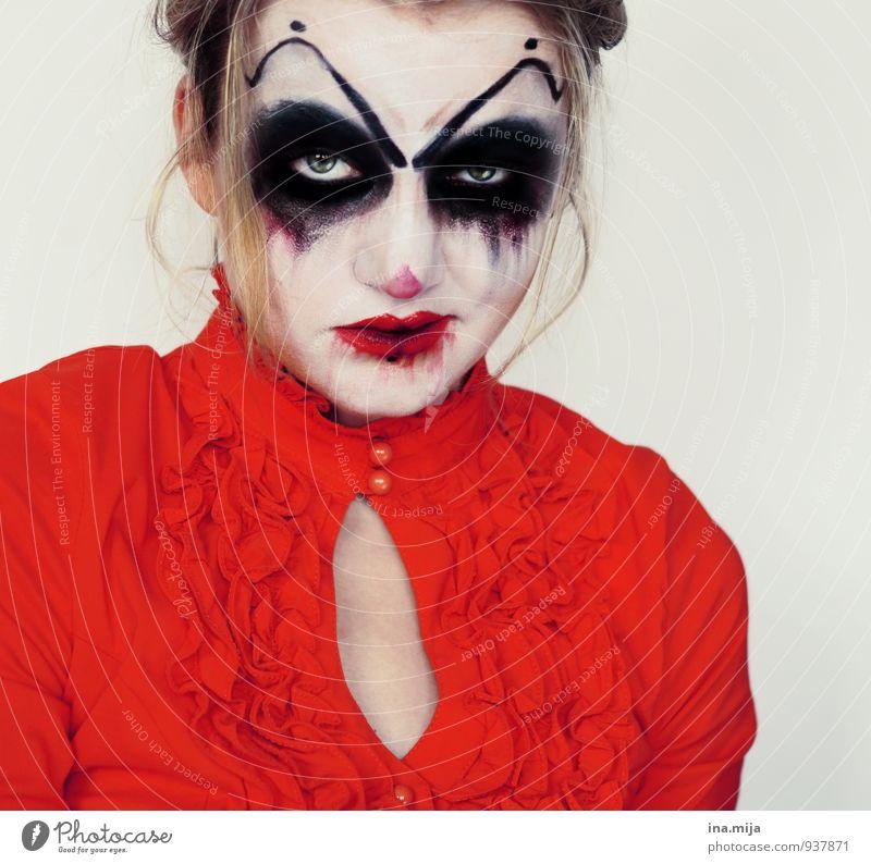 Horror-Clown II dunkel Feste & Feiern Stimmung gefährlich bedrohlich gruselig Maske Karneval Gewalt skurril Aggression Halloween unheimlich Hass Monster