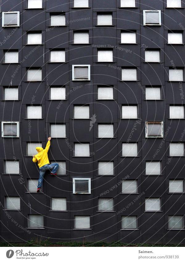 400 step by step Mensch Jugendliche Mann Stadt 18-30 Jahre gelb Erwachsene Wand Leben Bewegung Mauer außergewöhnlich Fassade maskulin Kraft Körper