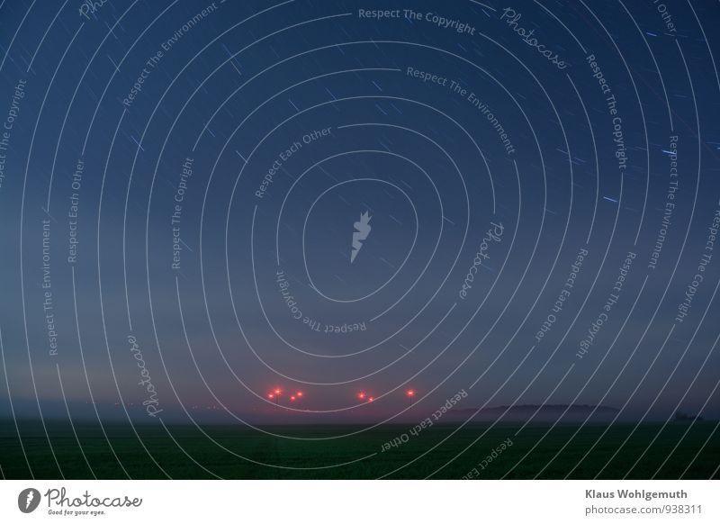 """Hinter dem Horizont geht´s weiter..."" Natur blau grün rot Landschaft schwarz Wald Umwelt Herbst rosa Energiewirtschaft Feld Nebel Technik & Technologie Stern"