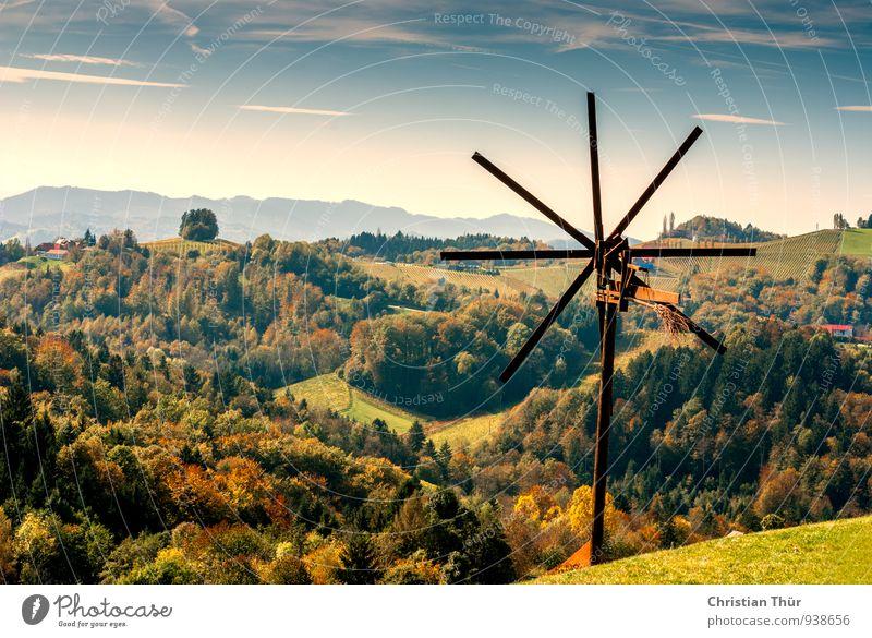 Herbstpanorama Wellness Leben harmonisch Wohlgefühl Zufriedenheit Erholung ruhig Meditation Ferien & Urlaub & Reisen Tourismus Ausflug Umwelt Natur Landschaft