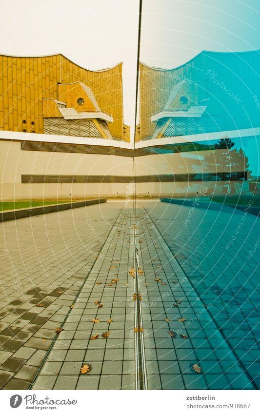 Berlin-Tiergarten Berliner Philharmonie Denkmal Sterbehilfe Glas Scheibe Architektur avantgarde scharoun durchscheinend Wand Glaswand Nationalsozialismus