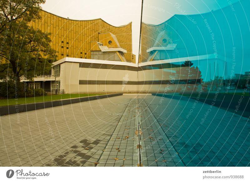 T4 Berlin Berliner Philharmonie Denkmal Sterbehilfe Glas Scheibe Architektur avantgarde scharoun durchscheinend Tiergarten Wand Glaswand Nationalsozialismus