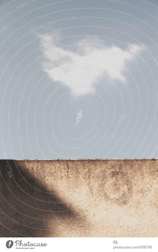 wolke Himmel Natur blau Wolken Umwelt Wand Mauer grau braun Wetter Klima Schönes Wetter