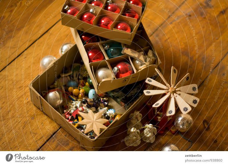 Weihnachtsdings alt Weihnachten & Advent Farbe Winter Anti-Weihnachten Feste & Feiern Dekoration & Verzierung Glas Tradition Weihnachtsbaum Kugel Handwerk Verpackung antik Karton Christbaumkugel
