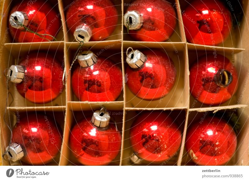 12/12 alt Weihnachten & Advent Farbe Winter Anti-Weihnachten Feste & Feiern Dekoration & Verzierung Glas Tradition Weihnachtsbaum Kugel Verpackung antik Karton Christbaumkugel Weihnachtsdekoration