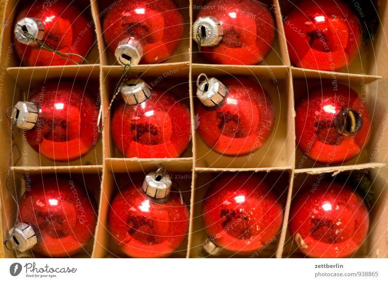 12/12 alt Weihnachten & Advent Farbe Winter Anti-Weihnachten Feste & Feiern Dekoration & Verzierung Glas Tradition Weihnachtsbaum Kugel Verpackung antik Karton