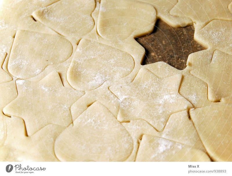 Herz Stern Herz Stern Stern Lebensmittel Teigwaren Backwaren Ernährung lecker süß Plätzchen Stern (Symbol) Mehl Weihnachtsgebäck Weihnachten & Advent Farbfoto