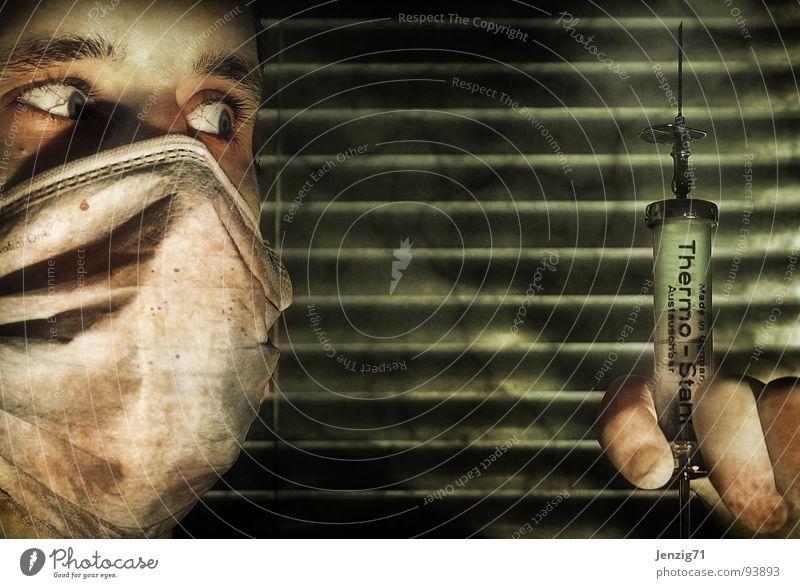 F S M E Impfung Spritze Zecke Mundschutz Krankenhaus Arzt Praxis Gesundheit Gesundheitswesen Medikament Zeckenbiss Schutz
