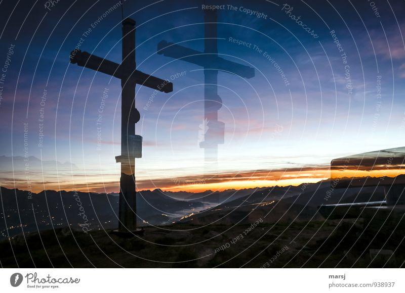 Es war noch sehr früh Himmel Natur Ferien & Urlaub & Reisen Landschaft Ferne Berge u. Gebirge Traurigkeit Religion & Glaube Freiheit außergewöhnlich träumen