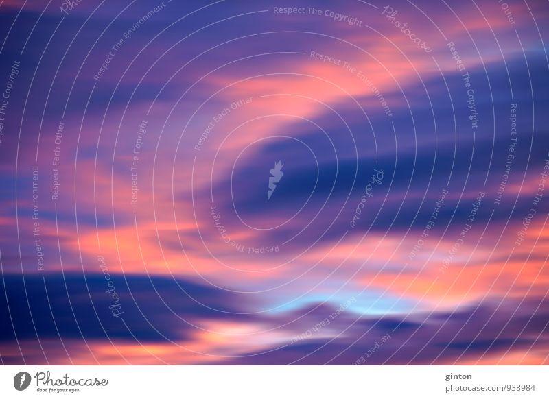 Verwischter Sonnenuntergang Himmel Natur blau rot Landschaft Wolken dunkel Umwelt natürlich orange Klima verrückt violett
