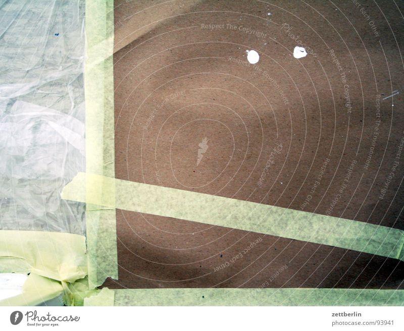 Renovieren Farbe Wassertropfen Häusliches Leben Reinigen Dienstleistungsgewerbe obskur Umzug (Wohnungswechsel) Renovieren Pinsel Abdeckung Einfamilienhaus Hausbau unerkannt klecksen zudecken Klebeband