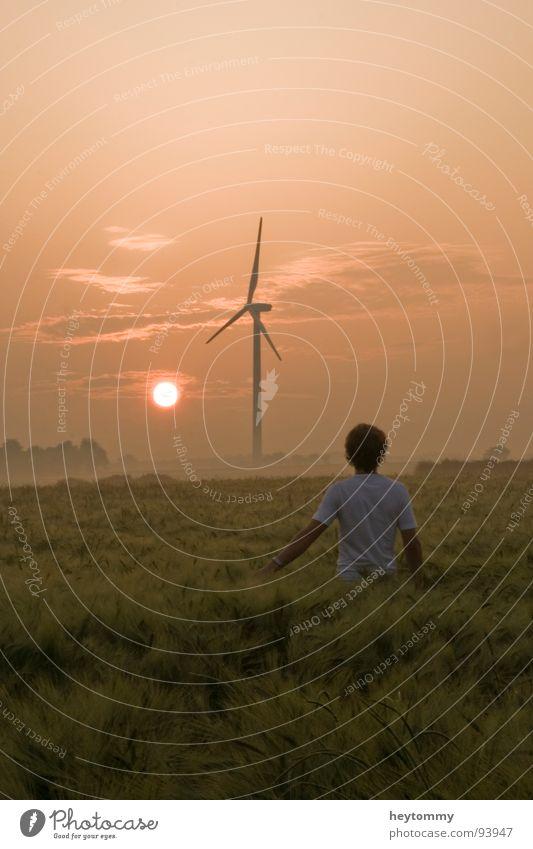 Sunrise, sunrise.. Mensch Himmel Sommer Sonne Erholung Einsamkeit Traurigkeit Frühling Gefühle Herbst Denken Zeit Stimmung gehen Feld Erde