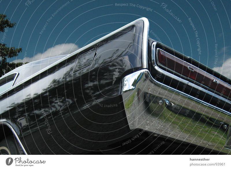 charger Oldtimer fantastisch schwarz KFZ Chrom lecker fahren Ferien & Urlaub & Reisen Motor stark Heck Rücklicht Tanne Baum Muscle-Car Motorsport