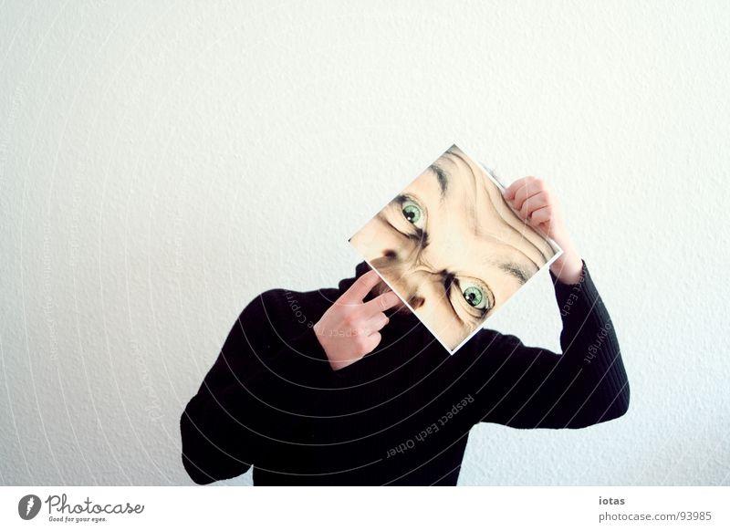 für boing: popeln! Mann Gesicht Auge Kopf planen Nase Suche Wissenschaften Konzentration Ekel Aggression Freisteller Ausruf Täuschung gestikulieren forschen