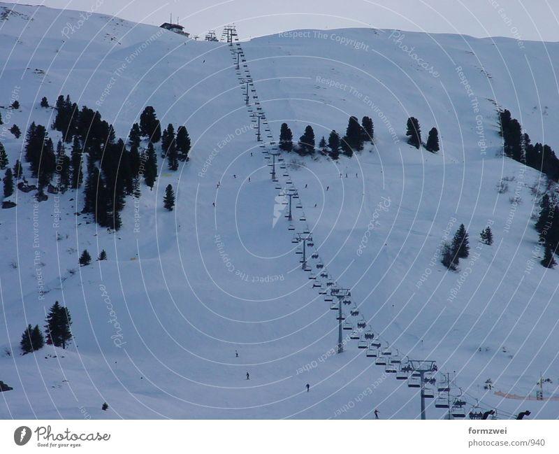 Berge&Snowboarden Baum Berge u. Gebirge Skifahren Fahrstuhl