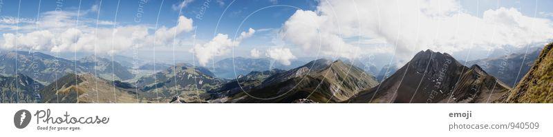 Panorama | CH Himmel Natur Ferien & Urlaub & Reisen blau Sommer Landschaft Umwelt Berge u. Gebirge natürlich Tourismus wandern Schönes Wetter Alpen Schweiz