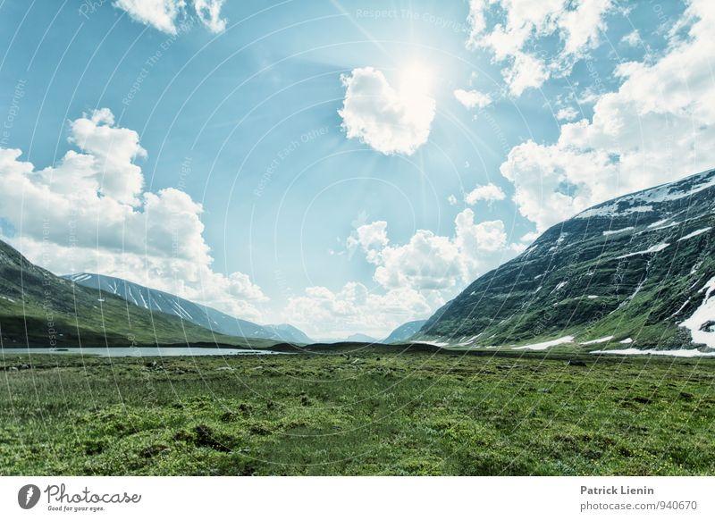 Unterwegs Himmel Natur Ferien & Urlaub & Reisen Sommer Erholung Landschaft ruhig Wolken Ferne Umwelt Berge u. Gebirge Freiheit Freizeit & Hobby Wetter Luft