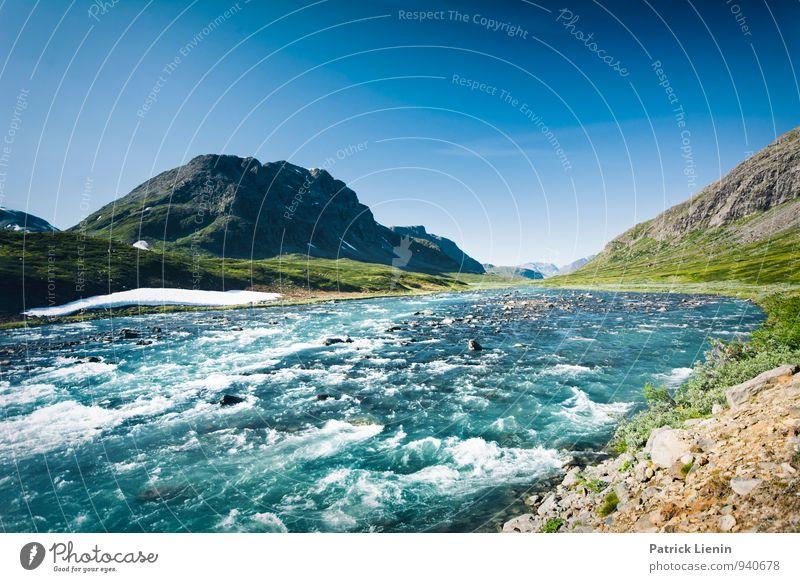Wildes Land Himmel Natur Ferien & Urlaub & Reisen Pflanze Sommer Wasser Erholung Landschaft ruhig Ferne Berge u. Gebirge Umwelt Freiheit Zufriedenheit Wetter