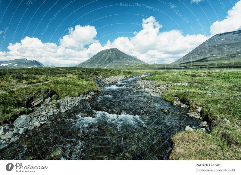 Wild River Natur Ferien & Urlaub & Reisen Pflanze Sommer Wasser Landschaft Ferne Berge u. Gebirge Umwelt Frühling Freiheit Stimmung Zufriedenheit Wetter