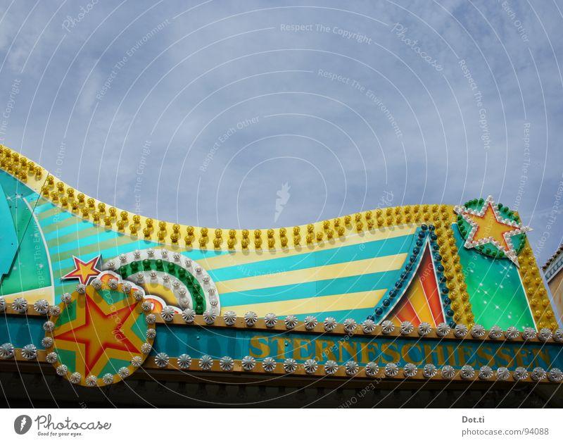 Sterneschießen Himmel Freude Farbe Lampe Glück Linie Beleuchtung Fassade Stern (Symbol) Zeichen Jahrmarkt erleuchten Entertainment Ornament glühen elektrisch