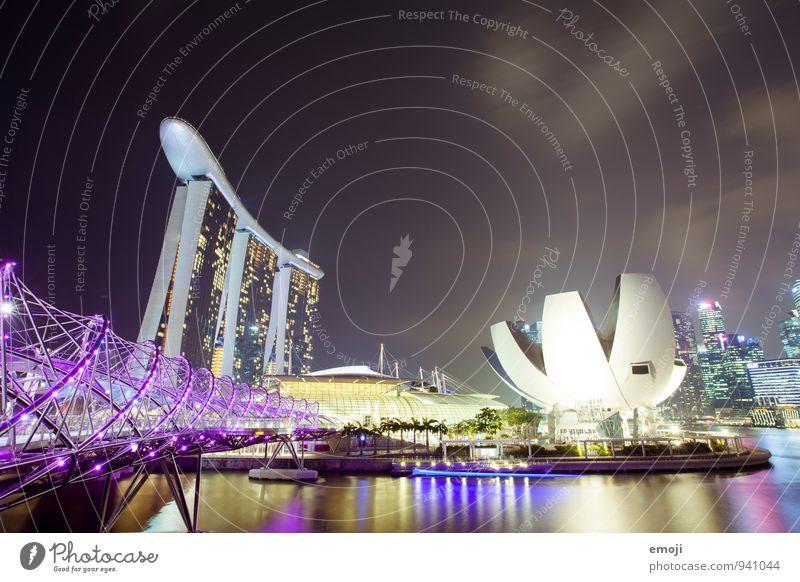 Singapur Stadt Architektur außergewöhnlich modern Hochhaus Brücke Bauwerk Hauptstadt Stadtzentrum Sehenswürdigkeit Reichtum Bekanntheit Singapore