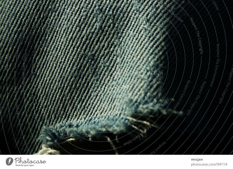 fürn ARSCH --> grün blau dunkel kalt Linie Beine Wellen Bekleidung Jeanshose kaputt Hose Stoff Teile u. Stücke Handwerk Loch Riss