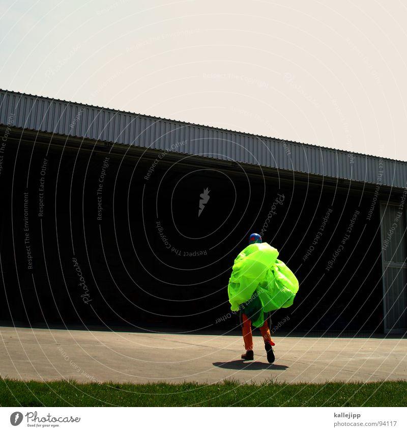maikäfer I Himmel Mann Hand Freude Wiese Sport springen Beine Horizont Feld fliegen gefährlich Flughafen Fallschirmspringen Käfer üben
