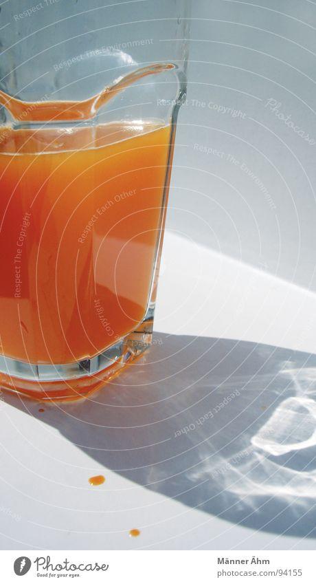 Vitamine!!! Saft Möhre Getränk Erfrischung durstig trinken saftig Sommer Ernährung Gesundheit Frucht Multivitamin Glas Schatten Sonne Wassertropfen Flüssigkeit
