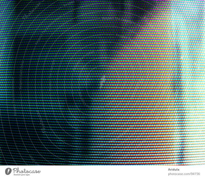 alles ist RGB Fernseher Blick Bildpunkt Bildschirm Strukturen & Formen Muster graphisch Licht Medien obskur Lochmaske Farbe Grafik u. Illustration blau
