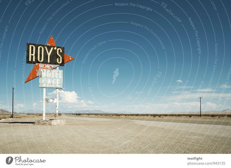 pause Umwelt Natur Landschaft Sonne Wüste mojave Verkehrswege Straße Straßenkreuzung Zeichen Ornament Schilder & Markierungen außergewöhnlich heiß Wärme