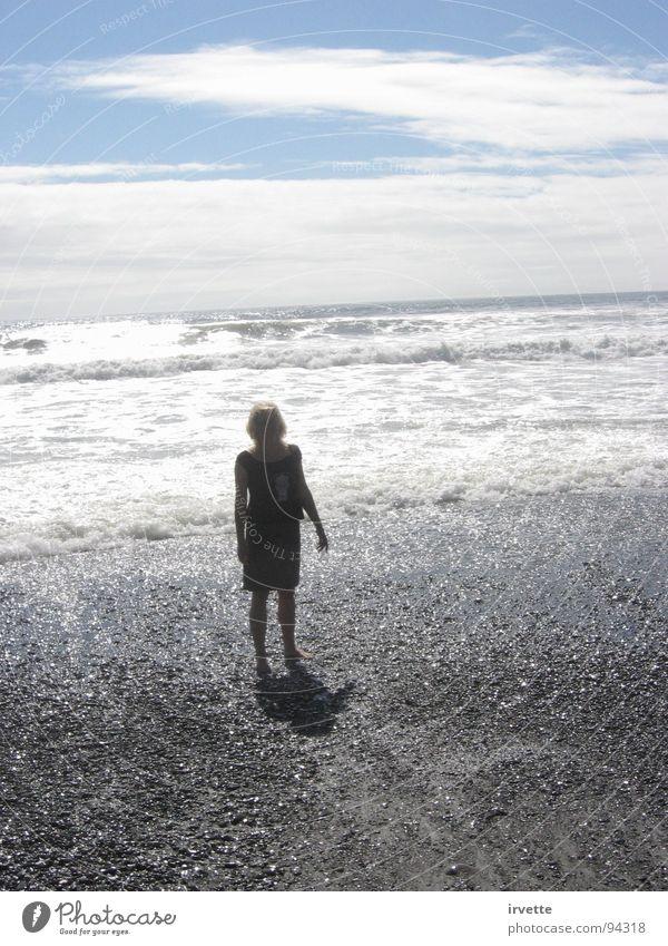 silver wave Himmel Meer Sommer Strand Sand Küste Wind Gezeiten