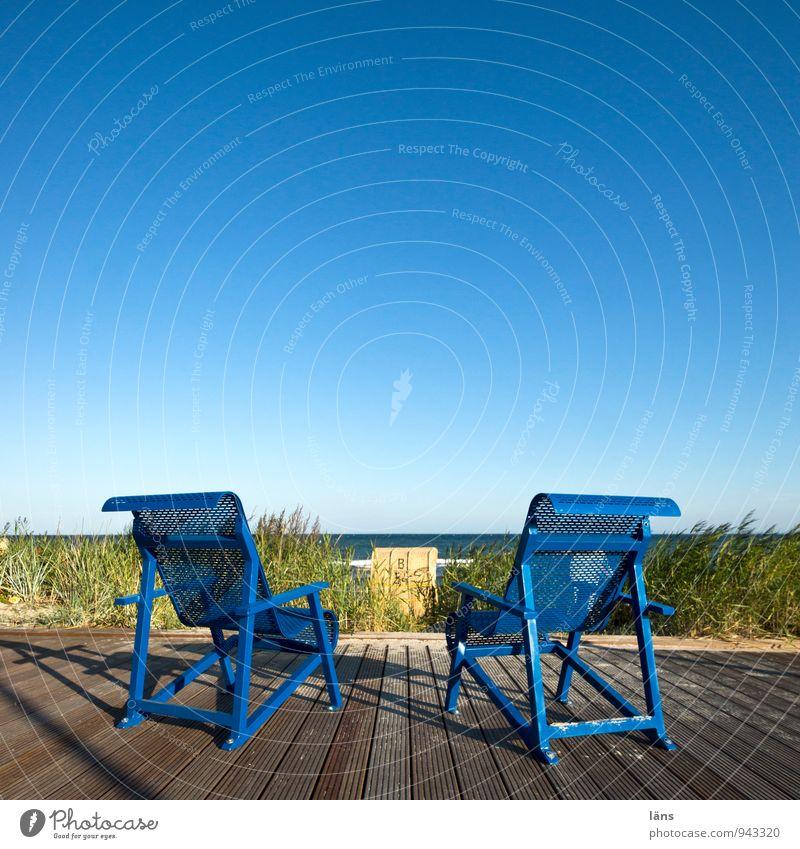 auf Deck Himmel Ferien & Urlaub & Reisen blau Sommer Sonne Erholung Meer ruhig Strand Ferne Küste Horizont Lifestyle Zufriedenheit Tourismus stehen
