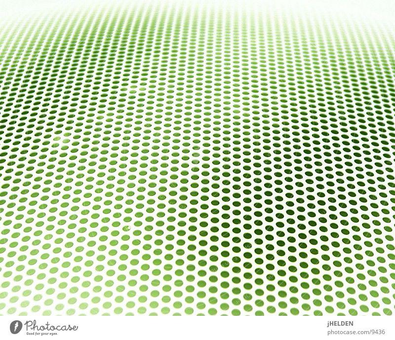 Raster Fahndung grün Stil Linie Hintergrundbild Ordnung Design Netzwerk rund Netz Punkt Loch Textfreiraum Verlauf Raster Lochblech Sieb